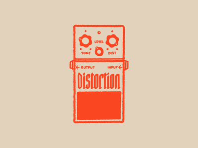 Type Effect | Distortion lettering typography type punk orange drawing sketch illustration music metal rock distortion pedal