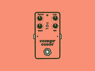 Type Effect | Compressor typography type drawing sketch illustration vintage cooper black retro musician music distortion pedal compressor