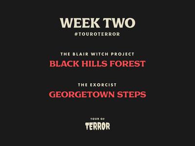 Tour of Terror | Week 2