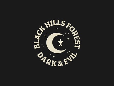 Tour of Terror | Black Hills Badge moon occult witchcraft witch badge typography type october scary horror black hills forest blair witch