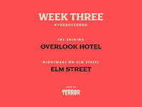 Tour of Terror | Week 3