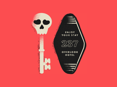 Tour of Terror | Overlook Hotel texture illustration sketch scary horror typography type skeleton key the shining tour of terror skeleton skull