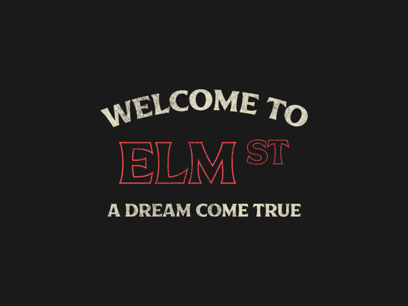 Tour of Terror | Elm Street Type nightmare on elm street elm street films tour of terror spooky scary horror layout badge texture typography type