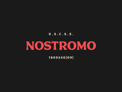 Tour of Terror | Nostromo Type inktober film scary tour of terror spooky horror alien nostromo typography type
