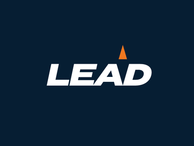 Lead Between The Lines lead negative space branding logo wordmark compass rebound