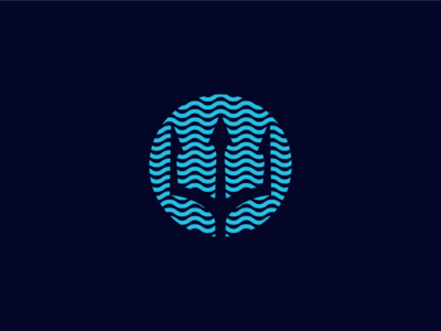 Beyond The Teams Icon ocean sea water military icon negative space lines waves seals navy trident branding logo