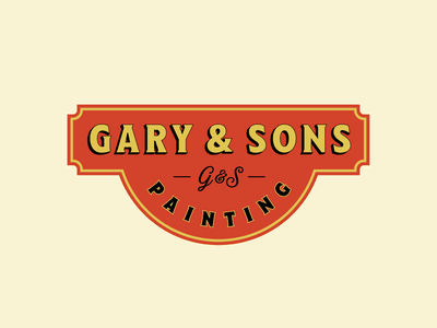 Just like pops used to do it. monogram vintage badge wordmark painting vintage branding logo