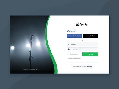 Weekly warmup - Spotify login screen ui design minimal screen login weeklywarmup spotify