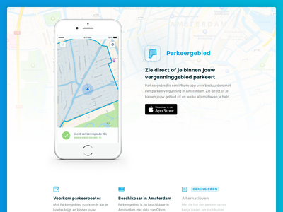 Parkeergebied app launched! app iphone launch tracking parking meter parking gps car tracking car area navigation