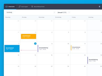 Calendar view - scheduler web app clean minimal app scheduler web app planning calender
