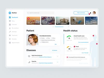 Medicine Dashboard Web UX/UI panel healthtech webdesign med web design dashboard medicine ux ui