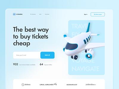 Aviasales Redesign Concept (Web UI) sky fly webdesign design 3d ux concept landing web ui travel plane air