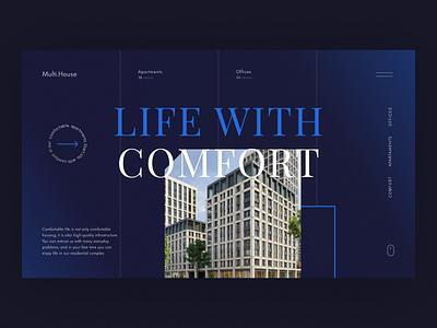 Website Design for Real Estate apartments ap house work real estate estate web design ux ui