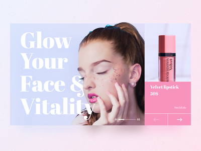 Cosmetic Shop Promo Website UI fashion promo beauty online website web ecommerce e-commerce commerce shop cosmetic ui dribbble