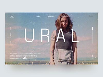 URAL - Website UI page web future clothes brand website fashion landing ux ui design flumberg