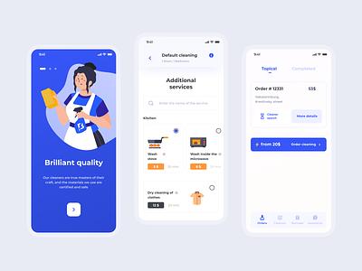 Blesk - Uber for cleaning, Mobile UX/UI delivery wash cleaning uber application responsive app mobile flumberg web ux design ui