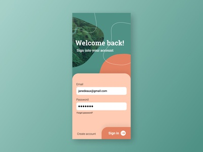 Sign up page visual design collage colourful signup page signup ui