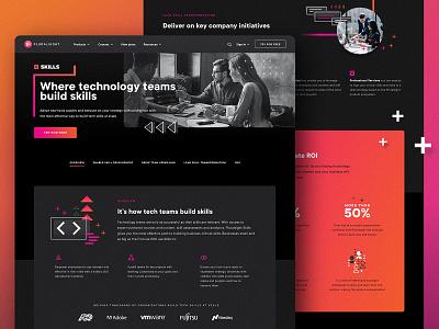 Skills Overview web design illustration design website user interface user experience ui ux web landing page