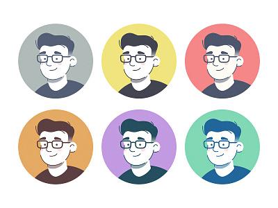Self-portrait face man illustrator self portrait portrait photo character line illustration avatar person people profile