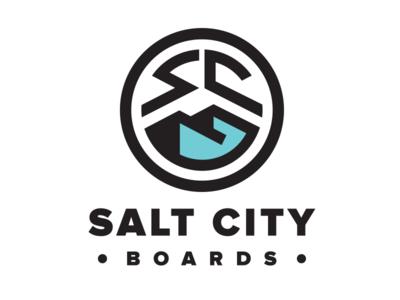 Salt City Boards longboarding logo design logo