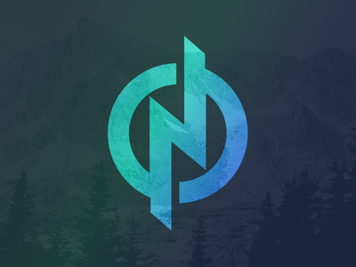 N Mark 3 north outside outdoors mountains illustration logo n
