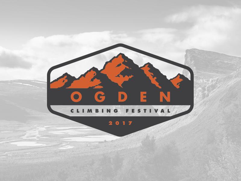 Ogden Climbing Festival - Opt 3 (Revised) utah ogden illustration logo climbing mountains