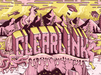 Clearlink Wall Mural
