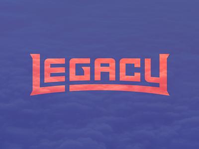 Legacy logo typography word mark legacy