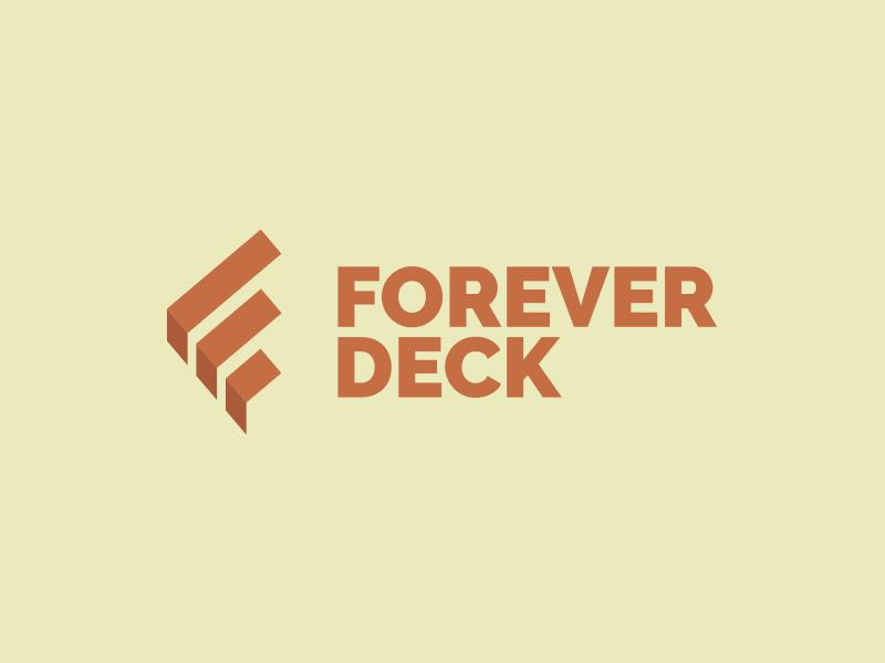 Forever Deck logomark construction logo deck