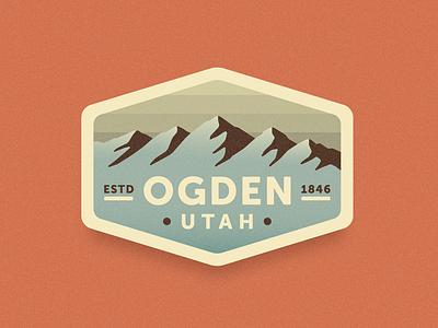 Ogden Badge outdoors patch illustration mountains utah ogden badge