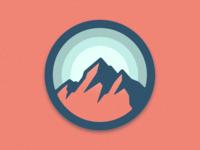 Circular Mountain Badge