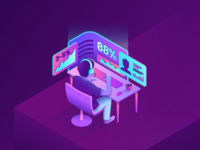 Isometric Sales Agent