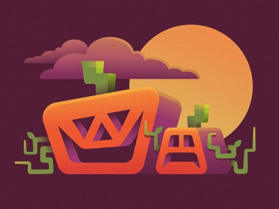 Pumpkins full moon pumpkins creepy spooky happy halloween jackolantern jack moon scary halloween pumpkin