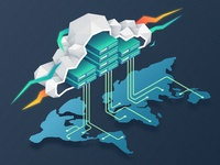 Isometric Poly Cloud