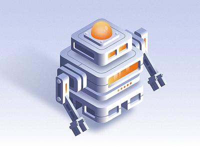Isometric Robot gradient illustration isometric robotics technology tech bot robot