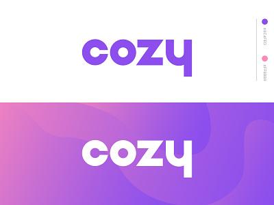 Cozy Logo warm comfort branding brand app thermostat logo cozy