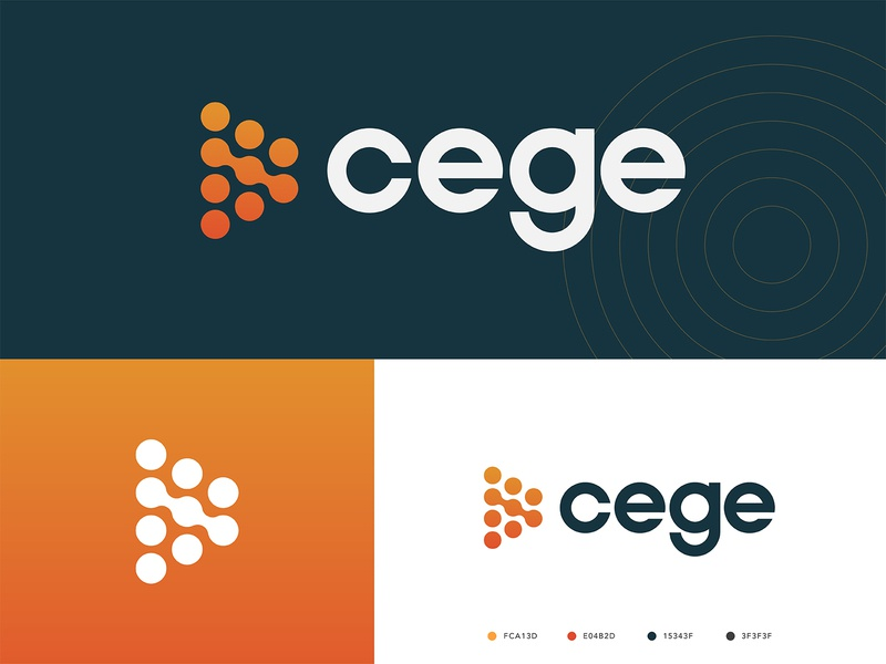 Cege Logo lead gen custom typography circles circle branding brand cege logo funnel