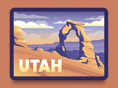 Delicate Arch Illustration sunset outdoors outdoor wilderness texture rock red rock utah southern utah arch delicate arch illustration