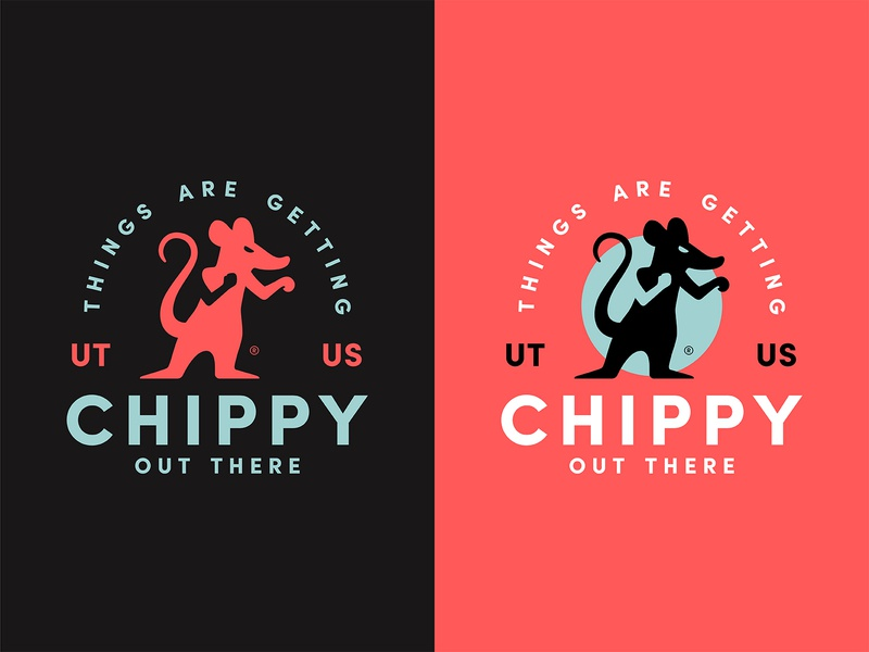 Things Are Getting Chippy brand branding sports boxing fight fighter fighting chippy illustration logo rat mouse