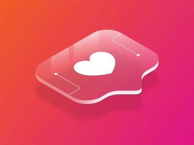 Digital Popularity hearts icon heart popularity popular likes like instagram illustration isometric