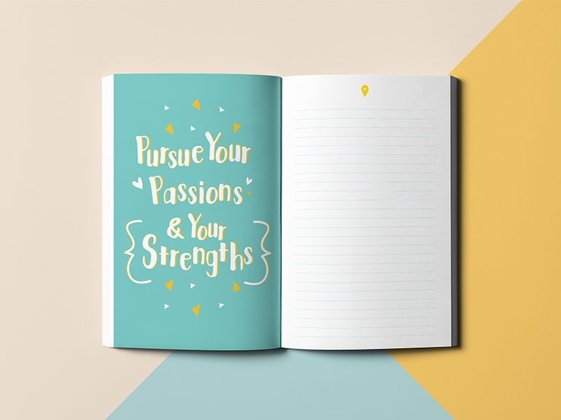 Pursue Your Passions miad debbie sajnani bowllick guide first generation thesis design book typography illustration quote