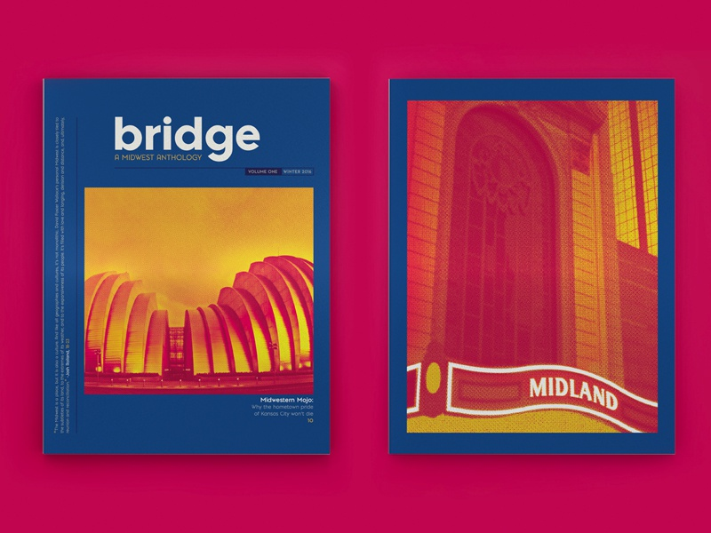 MIAD Bridge: A Midwest Anthology  miad photography literary identity branding layout cover kansas midwest editorial magazine print