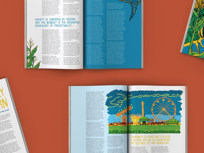 Spiritually Midwestern  article layout magazine editorial print illustration color flat midwest carnival miad