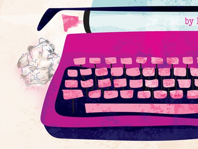 Miss Lonely Typewriter watercolor flat keys cover book design miss lonelyhearts paper illustration vector typewriter