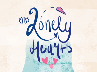 Miss Lonelyhearts  watercolor flat keys cover book design miss lonelyhearts paper illustration vector hand rendered typography