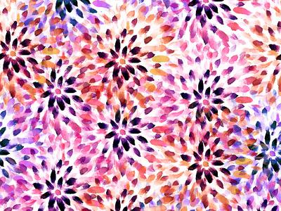 Floral Pattern Swatch pattern art botanical art motif watercolor surface design print pattern nature flower illustration gouache stationary flower flat color card brand botanical