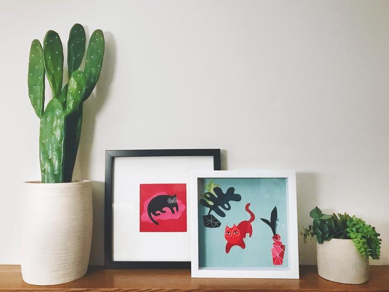 The Sofie Show portraits milwaukee drawing quirky plants cactus procreate art procreate app digital prints portrait pet color illustration kitty cat