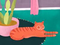 Ginger kitty detail