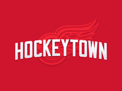 hockeytown embroidery stitched refresh logo red wings detroit