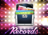 Records Icon and Website header
